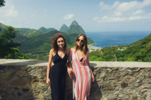 Kayleigh and Irena Island tour, Soufriere Saint Lucia